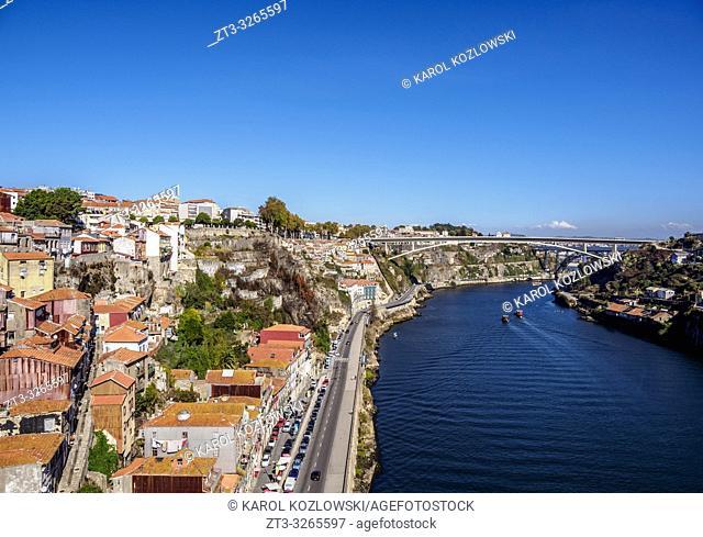 Douro River, elevated view, Porto, Portugal