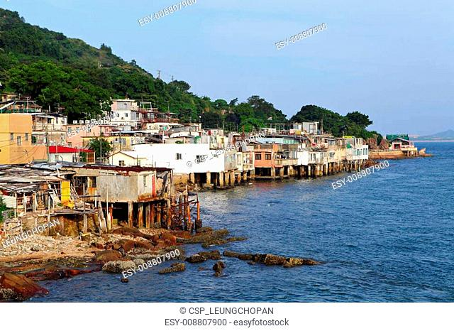village of Lei Yue Mun in Hong Kong
