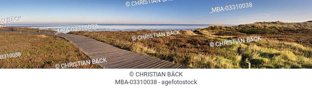 Away by the moor to the watt At Morsum cliff, island Sylt, Sylt East, Schleswig - Holstein, Germany