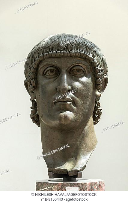 Colossal bronze head of Constantine, Capitoline Museums, Rome, Italy