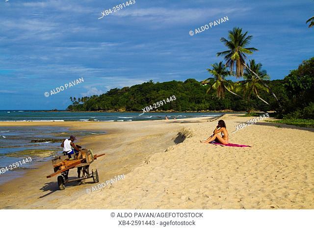 Boca da Barra beach, Boipeba island, Bahia, Brazil