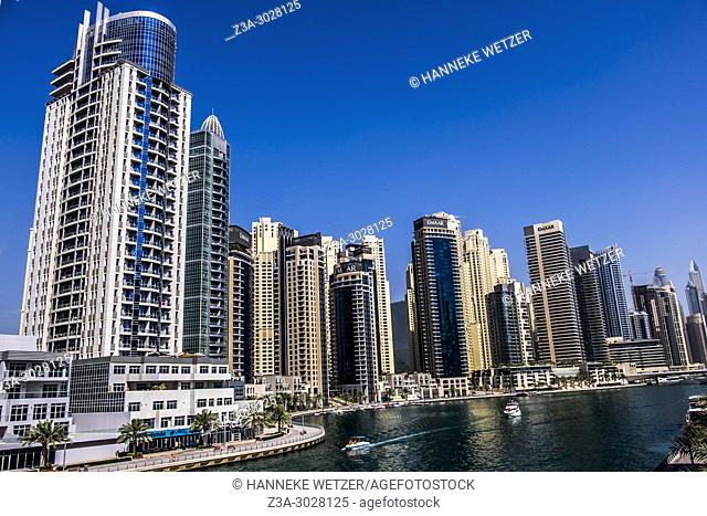 Supertall skyscrapers at Dubai Marina, Dubai, UAE