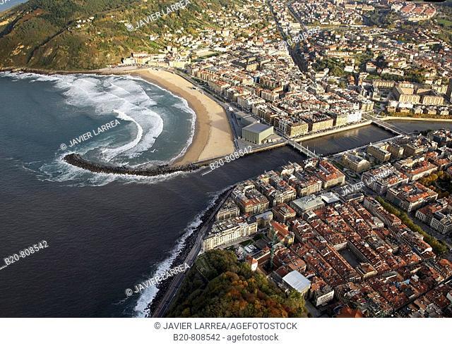River Urumea, San Sebastian (aka Donostia), Guipuzcoa, Basque Country, Spain