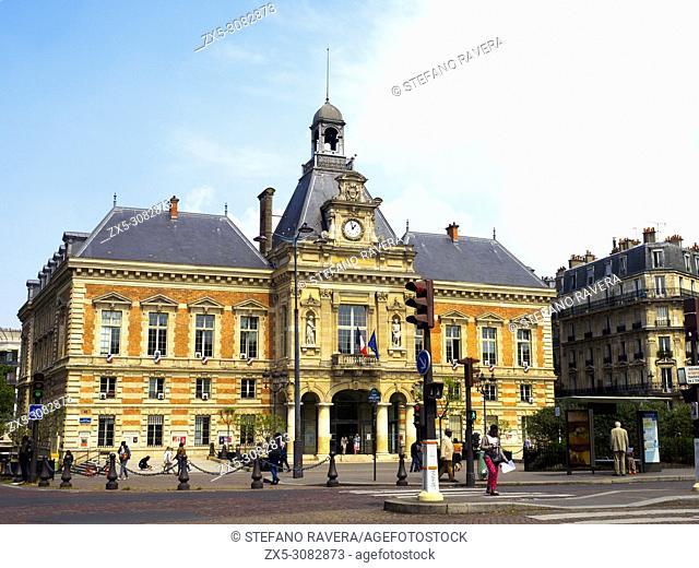 Mairie du 19e arrondissement - Town Hall - Paris, France