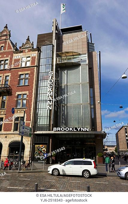 Stockmann department store with Brooklynn advertise, Helsinki Finland
