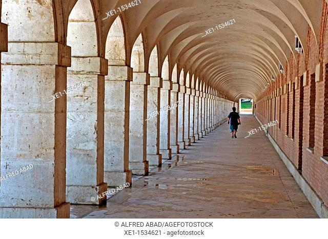 arcades, Royal Church of San Antonio, 1750, arq Santiago Bonavia, Aranjuez, Madrid, Spain