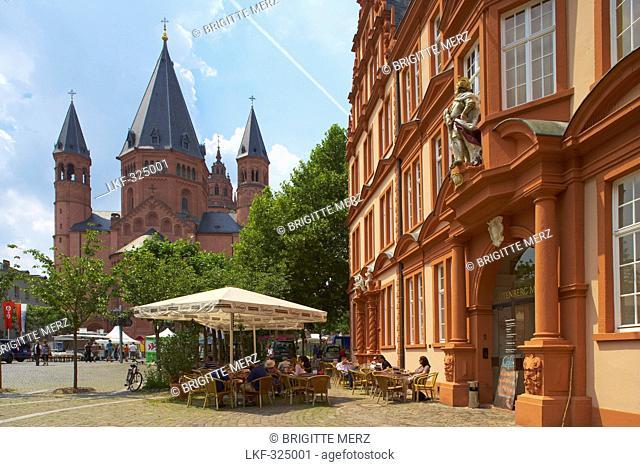 Mainz Cathedral, Gutenberg Museum, Mainz, Rheinhessen, Rhineland-Palatinate, Germany