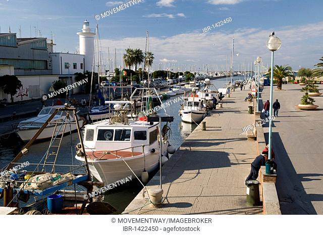 Port of Viareggio, Versilia, Riviera, Tuscany, Italy, Europe