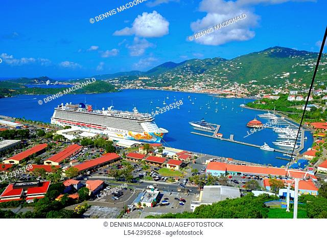 Cruising Southern Caribbean on the Norwegian Getaway at St. Thomas Virgin Island cruise ship