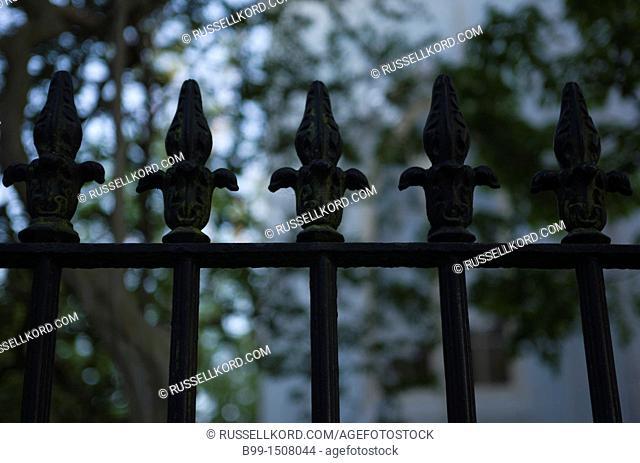 Wrought Iron Railings Queen Street Downtown Charleston South Carolina USA