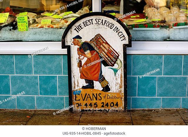 Seafood Shop Sign, England