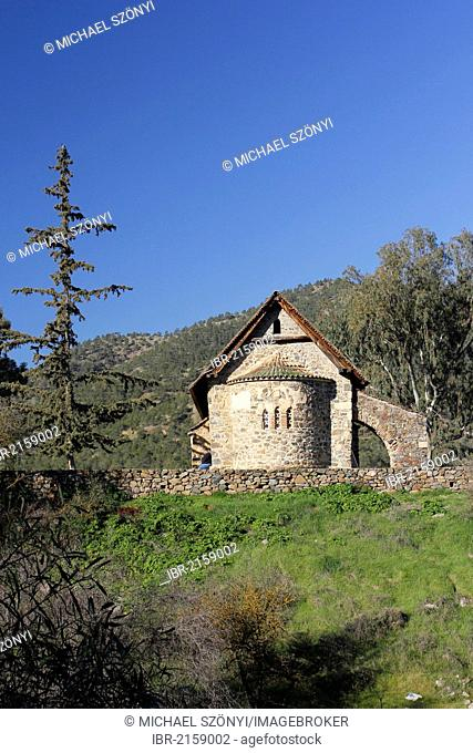 Panagia tis Asinou, barn roof church, UNESCO World Heritage Site, Troodos Mountains, Southern Cyprus, Greece, Europe