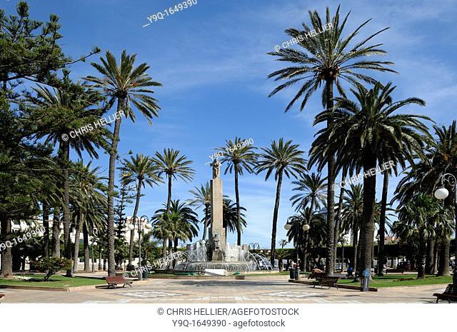 Art Deco Campaign Heroes Monument 1931 Fountain and Gardens Plaza de Espana Melilla Spain