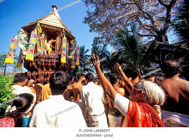 sri lanka, colombo. hindu festival