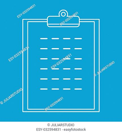 Checklist thin line icon for web and mobile devices