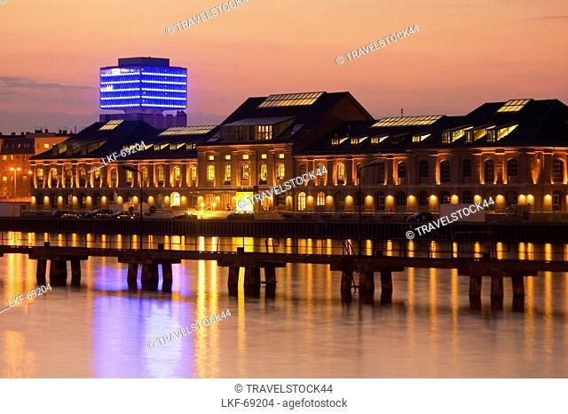 MTV, Oberbaum City, Spree River, Berlin