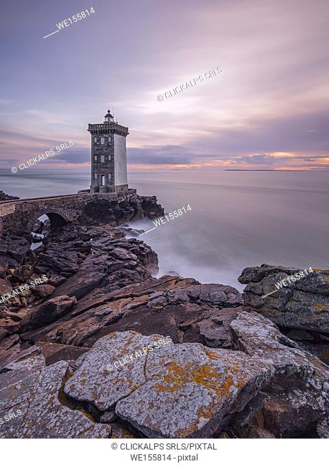 Kermorvan Lighthouse, Le Conquet, Brest, Finistère departement, Bretagne - Brittany, France, Europe