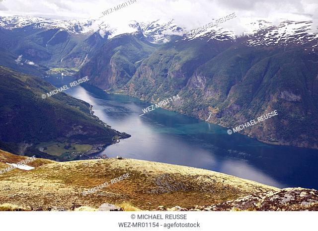 Norway, Fjord Norway, Aurlandsfjord