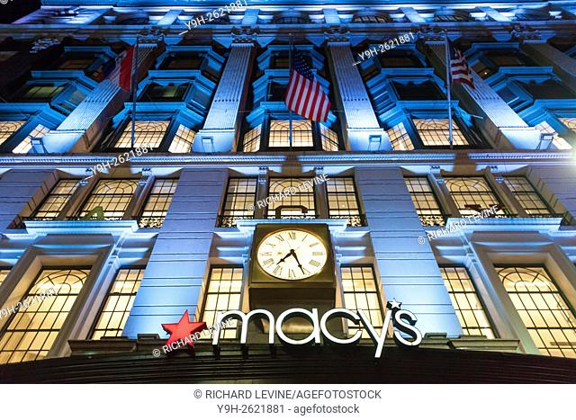 The Macy's Herald Square flagship department store in New York