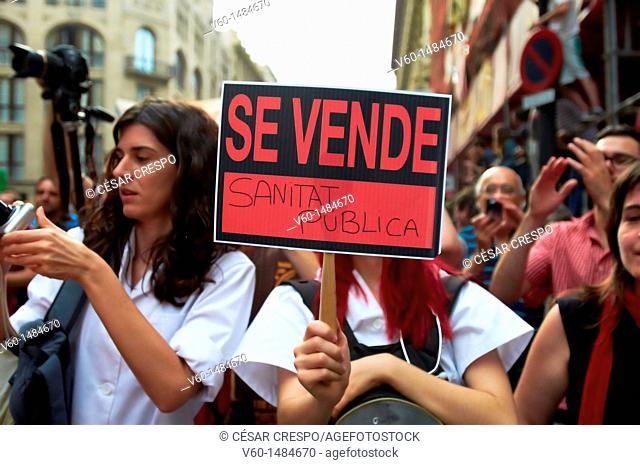 -For Sell, Public Health- Barcelona Demonstrations, 19 of Juny 2011 (Spain)