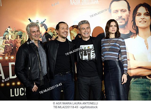 Domenico Procacci, Stefano Accorsi, Luciano Ligabue Kasia Smutniak during 'Made in Italy' film photocall, Rome, 22/01/2018