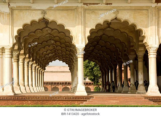 Diwan-i-Aam Audience Hall, Red Fort of Agra, UNESCO World Heritage Site, Uttar Pradesh, India, Asia