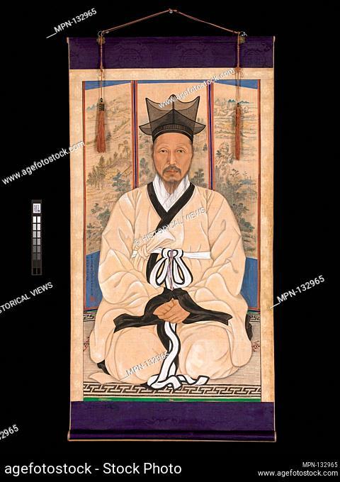 석지 채용신 학자 ì'ˆìƒ/石芝 蔡龍臣 學者è'-像/Portrait of a scholar. Artist: Chae Yongsin (artist name: Seokji) (ASA) (Korean