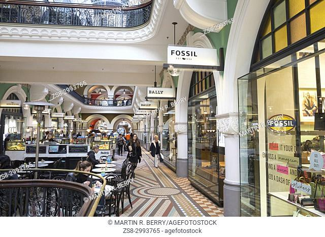 Shops and stores in the Queen Victoria Building in George street Sydney,Australia