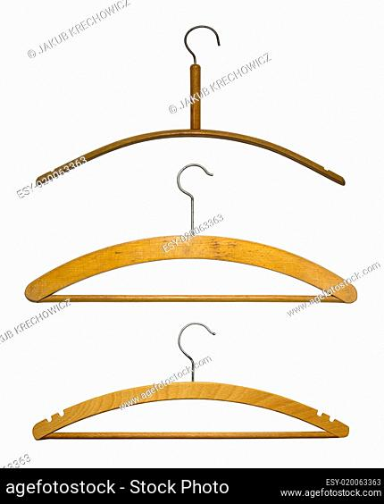 Hangers isolated on white