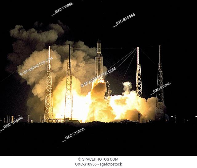 10/15/1997 --- A seven-year journey to the ringed planet Saturn begins with the liftoff of a Titan IVB/Centaur carrying the Cassini orbiter and its attached...