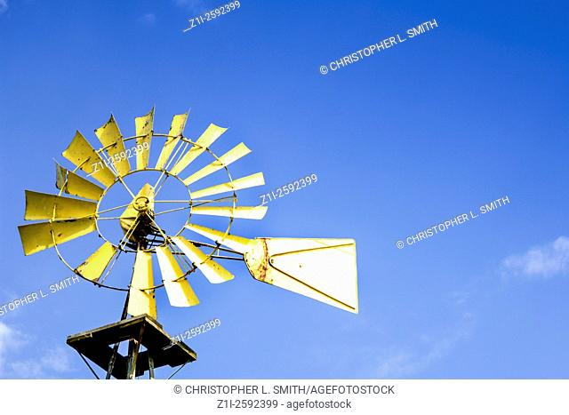 Wind powered water pump