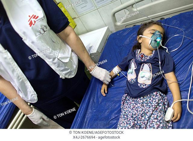Emergency room at Sulaimaniya hospital, Iraq