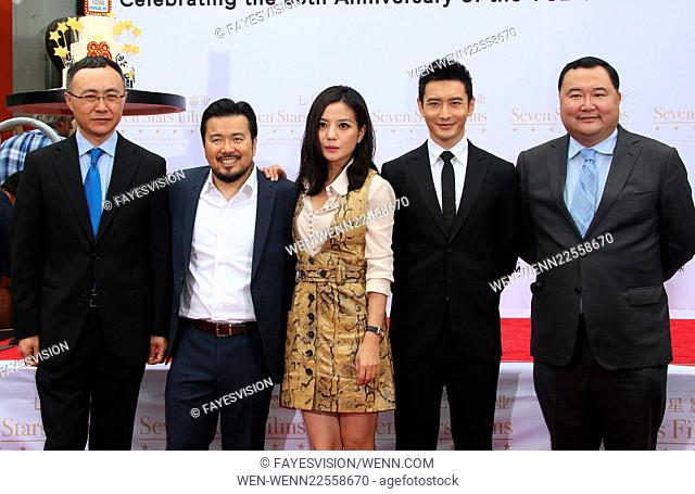 Hand Print/Birthday Bash Ceremony at the TCL Chinese Theatre IMAX Featuring: Wang Changtian, Justin Lin, Zhao Wei, Huang Xiaoming, Bruno Wu Where: Hollywood