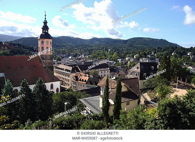 panoramica, baden-baden, baden-wuttemberg, germania, europa