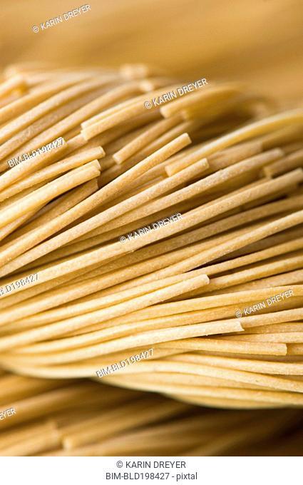 Close up of pasta noodles