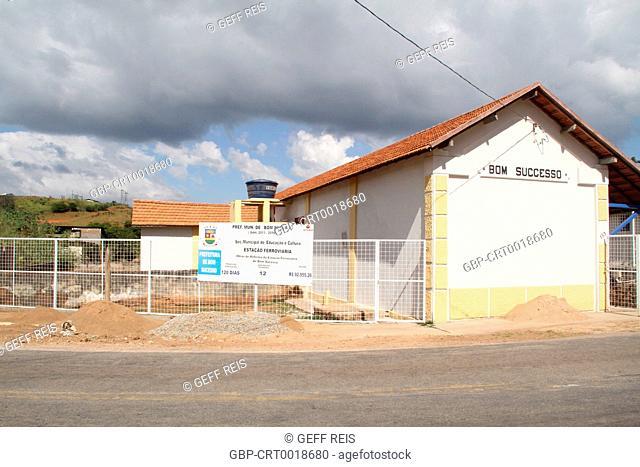 Train station, 2016, City, Bom Sucesso, Minas Gerais, Brazil