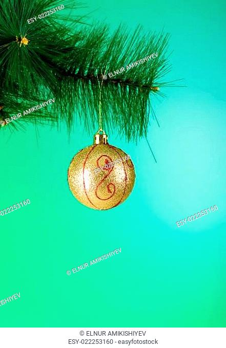 Christmas decoration against the colorful gradient background