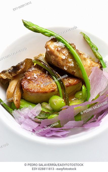 Foie gras with vegetables
