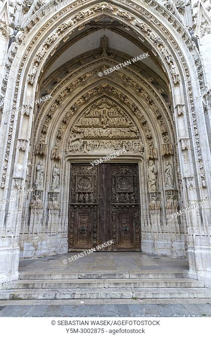 St Maclou Church, Rouen, Seine-Maritime, Normandie, France, Europe
