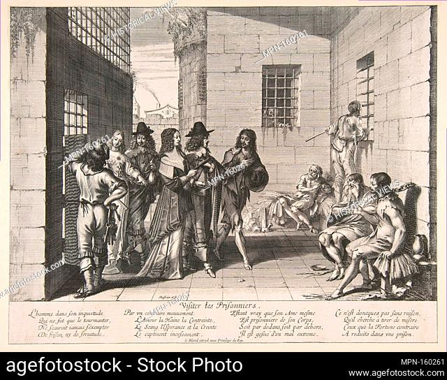 Visiting Prisoners. Series/Portfolio: Acts of Mercy; Artist: Abraham Bosse (French, Tours 1602/1604-1676 Paris); Publisher: Jean I Leblond (French, ca