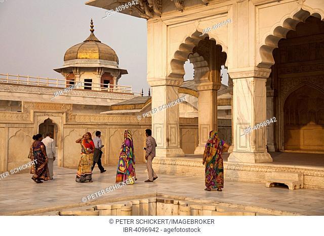 Courtyard in the Red Fort, Agra, Uttar Pradesh, India
