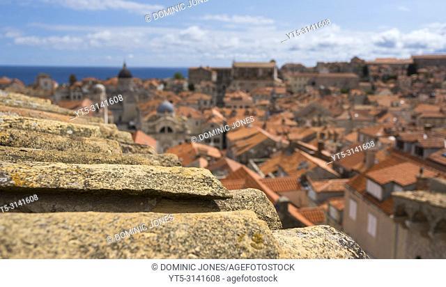 The rooftops of Dubrovnik's Old Town, Dubrovnik, Croatia, Europe