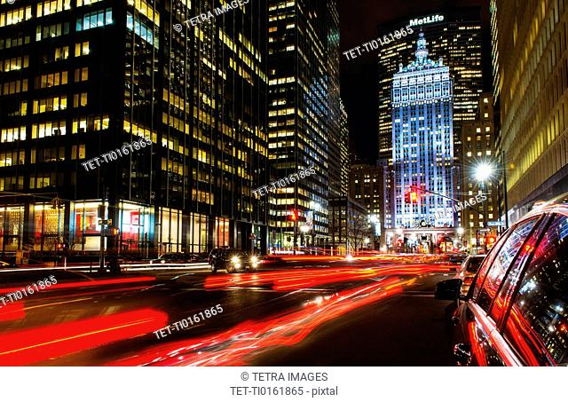 Park Avenue at night