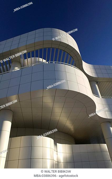 USA, California, Los Angeles, Brentwood, J  Paul Getty Center, facade, detail, no property release, city, city, metropolis, building-complex, buildings