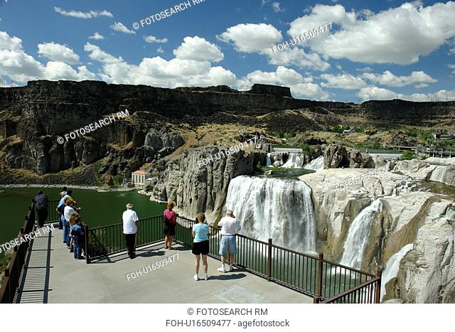 Twin Falls, ID, Idaho, Shoshone Falls, Niagara of the West, Snake River, canyon, 212 feet drop
