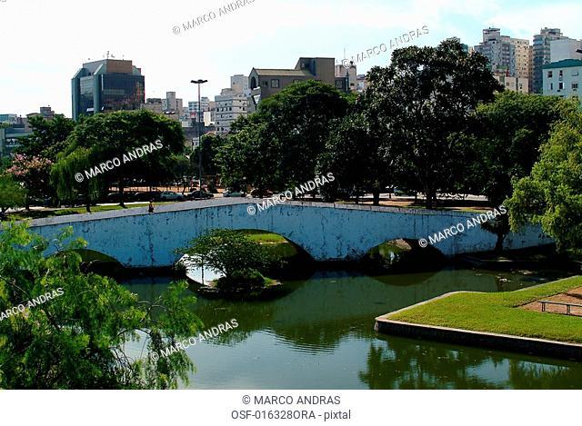 a view of porto alegre downtown acorianos park