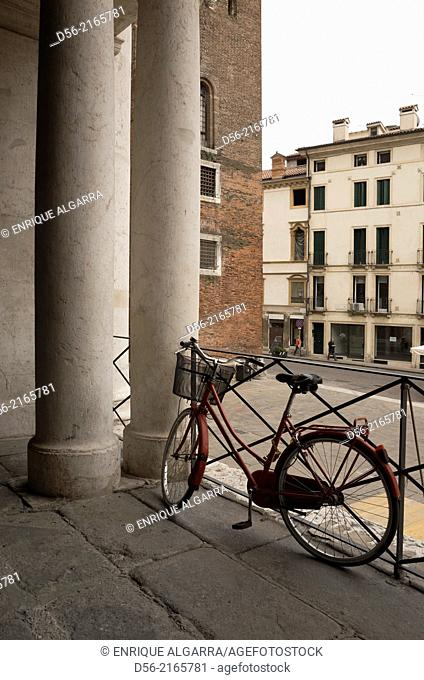 Bycicle on the street, Vicenza, Italy