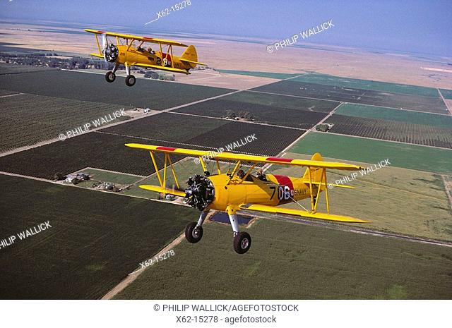 Stearman N2S, 1940's World War II vintage trainers, restored