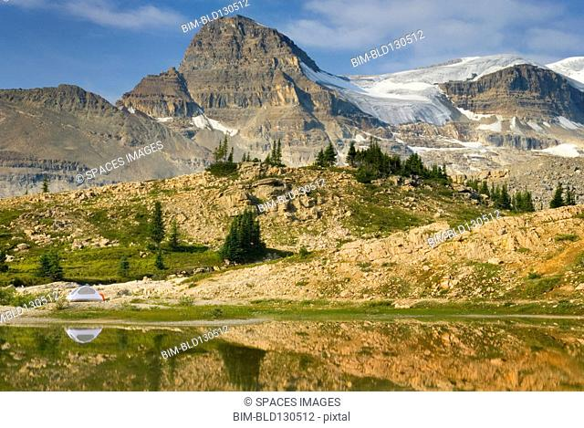 Canadian Rockies overlooking Yoho National Park, British Columbia, Canada