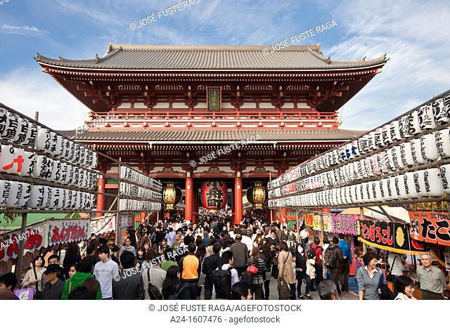 Japan-Tokyo City-Asakusa District-Sensoji Temple